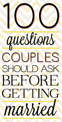 Questions To Know Before You Get Married