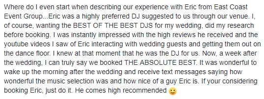 Best Wedding DJ Philadelphia
